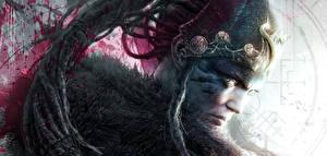 Wallpapers Warriors Closeup Dreads Hellblade: Senua's Sacrifice Head Games