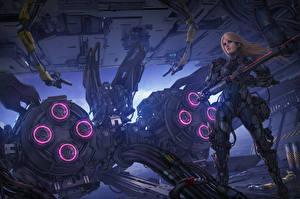 Images Warrior Technics Fantasy Illustrations to books Michael Cooper, The Aeon 14 Universe Fantasy Girls