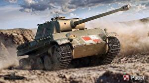 Papel de Parede Desktop WOT Carro de combate Alemães Panther Ausf.G, Pudel
