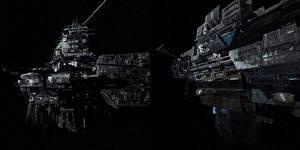 Bureaubladachtergronden Alien: Covenant Ruimteschip Schip film Ruimte Fantasy