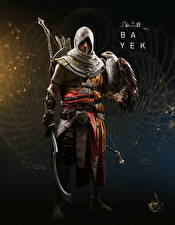 Hintergrundbilder Assassin's Creed Origins Krieger Falken Bayek computerspiel