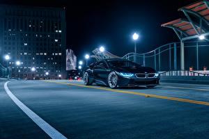 Wallpaper BMW Night Black Aristo, i8 automobile
