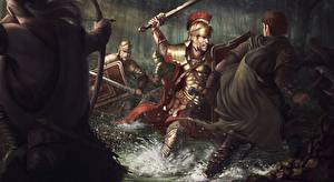 Image Battles Soldiers Archers Warrior Swords Shield Armour The Battle of the Teutoburg Forest  in 9 CE Fantasy
