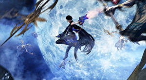 Picture Bayonetta Firing Umbra Witches Games Girls Fantasy