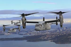 Fotos Wandelflugzeug Flug Osprey, MV-22B