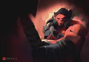 Photo DOTA 2 Warrior Axe Battle axes vdeo game Fantasy