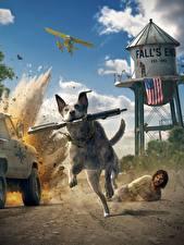 Bilder Far Cry 5 Hunde Sturmgewehr Laufen Spiele