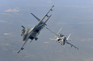 Fondos de escritorio Avións Avión de caza Sukhoi Su-30 Ruso Vuelo MKI, The Indian air force Aviación