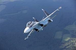 Bilder Flugzeuge Jagdflugzeug Soukhoï Su-30 Russische SM Luftfahrt