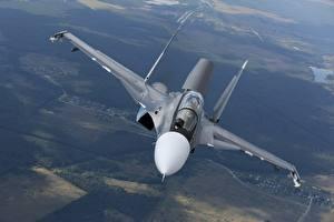 Fondos de escritorio Avións Avión de caza Sukhoi Su-30 Ruso Vuelo SM Aviación