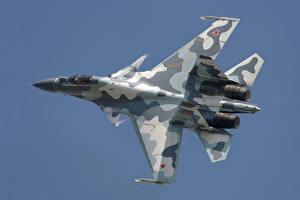 Bilder Flugzeuge Jagdflugzeug Soukhoï Su-30 Russischer Su-30MK Luftfahrt