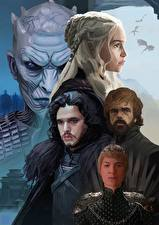 Fotos Game of Thrones Emilia Clarke Peter Dinklage Krieger Kit Harington Jon Snow Prominente
