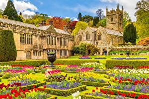 Wallpaper Gardens England Church Cornwall, St Hydroc Church, Lanhydrock House Cities