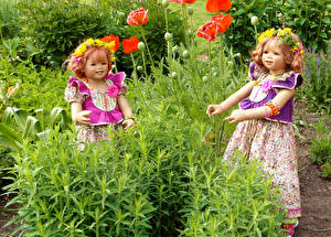 Picture Parks Poppies Doll Little girls 2 Grugapark Essen Nature