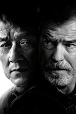 Image Jackie Chan Men Pierce Brosnan The Foreigner 2017 Two Black and white Face Movies