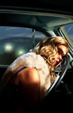 Tapety na pulpit L.A. Noire Martwy Blondynka Kierownica samochodu Dziewczyny