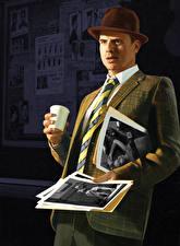 Tapety na pulpit L.A. Noire Mężczyźni Kapelusz Garniturze Gry_wideo