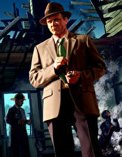 Tapety na pulpit L.A. Noire Mężczyzna Kapelusz Garniturze gra wideo komputerowa