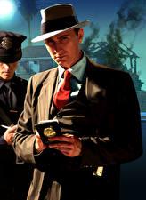 Tapety na pulpit L.A. Noire Mężczyźni Policja Kapelusz Garnitur