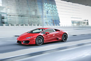 Images Lamborghini Motion Red LP 580-2 Huracan automobile