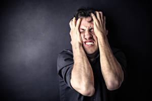 Bilder Mann Hand Furcht frustration