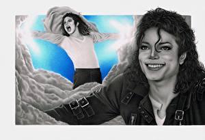 Picture Michael Jackson Painting Art Smile Celebrities