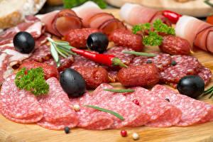 Bilder Oliven Fleischwaren Wurst