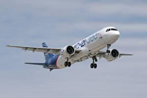 Bilder Flugzeuge Verkehrsflugzeug Russischer MS-21-300 Luftfahrt