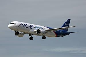 Fotos Flugzeuge Verkehrsflugzeug Russischer MS-21-300 Luftfahrt