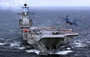 Images Ship Aircraft carrier Russian Russian aircraft carrier Admiral Kuznetsov