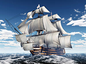 Bilder Schiff Segeln Meer