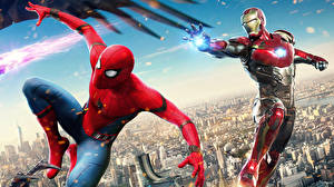Pictures Spider-Man: Homecoming Superheroes Spiderman hero Iron Man
