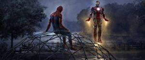 Photo Spider-Man: Homecoming Spiderman hero Superheroes Iron Man hero 2 Movies