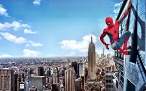 Hintergrundbilder Spider-Man: Homecoming Spiderman Held Comic-Helden New York City Film