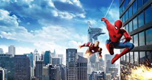 Wallpapers Spider-Man: Homecoming Spiderman hero Superheroes Iron Man