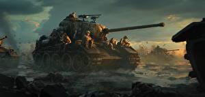 Fotos Panzer Soldaten Gezeichnet US Heer