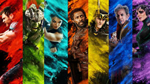 Hintergrundbilder Thor: Tag der Entscheidung Tom Hiddleston Chris Hemsworth Krieger Hulk Held Jeff Goldblum, Idris Elba, Jeff Goldblum, Cate Blanchett Film Prominente