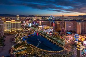 Bilder Vereinigte Staaten Haus Abend Teich Las Vegas