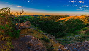 Hintergrundbilder Vereinigte Staaten Landschaftsfotografie Park Wälder Morgen Hügel Little Missouri National Grasslands