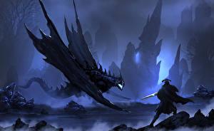 Bureaubladachtergronden Krijger Draken Fantasy