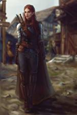 Image Warrior Redhead girl Armor Fantasy Girls