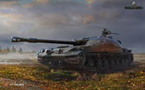Hintergrundbilder Panzer WOT Russische STG Guardsman Spiele