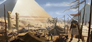 Bilder Assassin's Creed Origins Krieger Ägypten Pyramide bauwerk Spiele