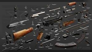 Fotos Sturmgewehr Kalaschnikow Russische Fully disassembled
