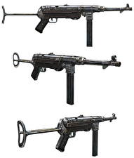 Image Assault rifle German White background MP40 military