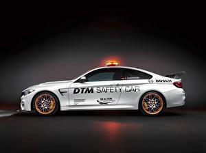 Sfondi desktop BMW Vista laterale Bianco DTM GTS F82 Safety Car Auto