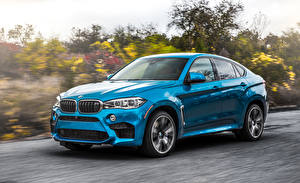 Pictures BMW Driving Light Blue CUV F86 X6 M Cars