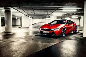 Fotos BMW Rot Parkplatz I12 Autos