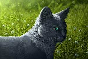 Hintergrundbilder Hauskatze Gezeichnet Tiere