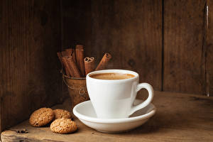 Picture Coffee Cinnamon Cookies Cup Saucer Food